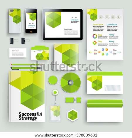 Vector abstract creative business template (set for business artworks) - stock vector