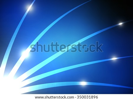 Vector : Abstract curve line and circle technology background - stock vector