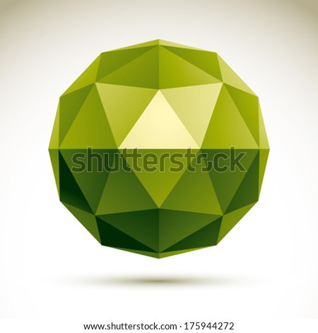 Vector abstract 3D object, design element template for technology theme projects, clear eps 8. - stock vector