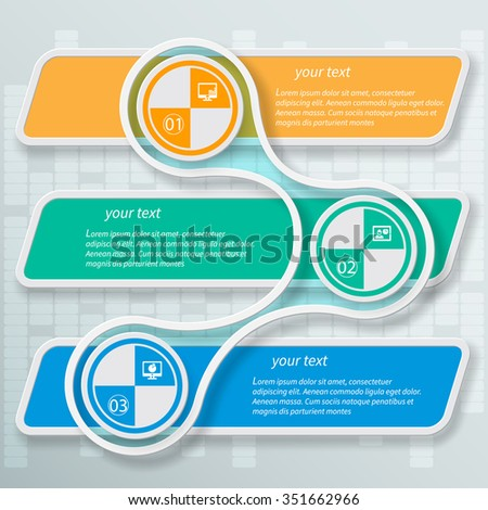 vector abstract 3d paper infographic elements.Metaball  infographics - stock vector