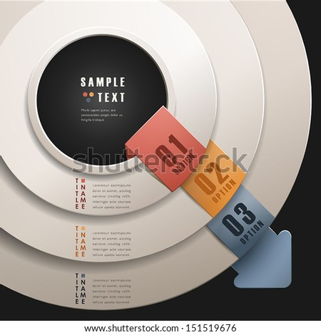 vector abstract 3d paper infographics. can be used for workflow layout, diagram, number options, web design.  - stock vector