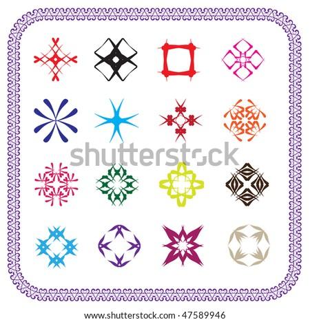 vector abstract design elements - stock vector