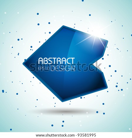 Vector abstract design, EPS10 illustration - stock vector