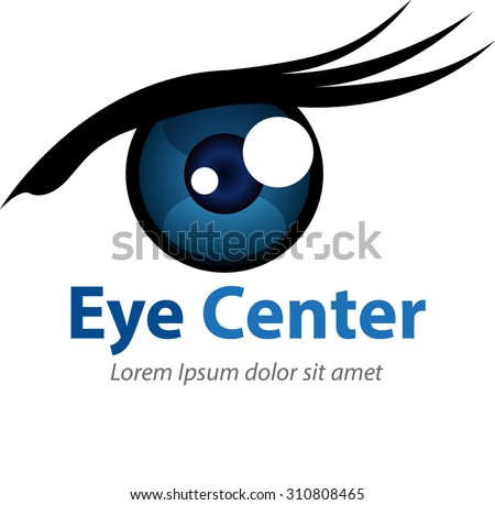 Vector Abstract Eye Shape Symbol Icon Stock Vector 310808465