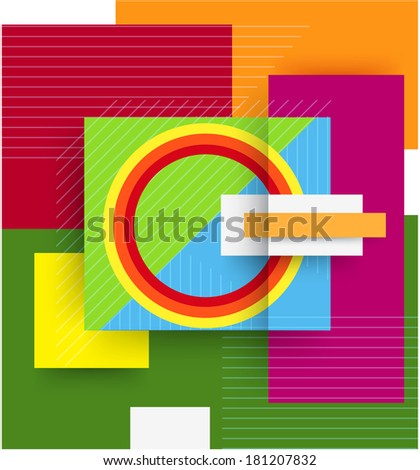 vector abstract flat background - stock vector