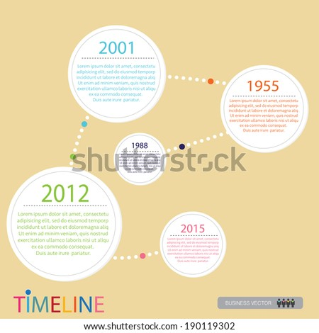 vector abstract flat design flow chart timeline infographic
