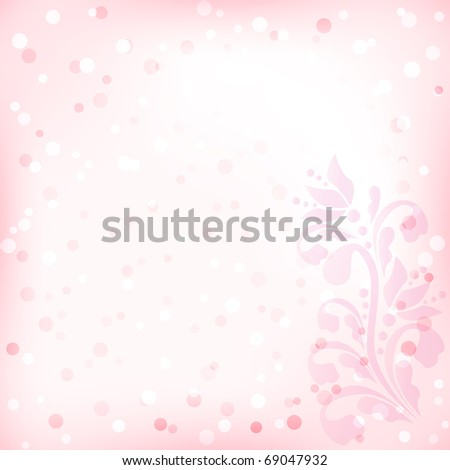 vector abstract floral  background with stylized flowers for design