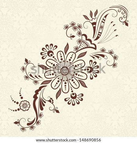 henna design stock images royalty free images vectors shutterstock. Black Bedroom Furniture Sets. Home Design Ideas