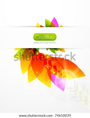 Vector abstract flower background - stock vector