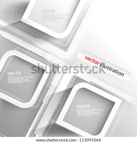 Vector abstract futuristic 3D Geometrical concept illustration - eps10 - stock vector