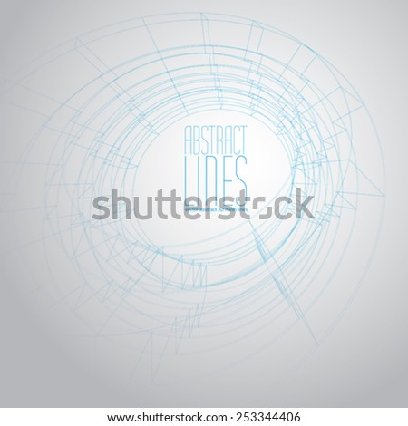 Vector abstract geometric background, contemporary style illustration, communication and digital technology theme abstract background, clear eps 8 vector. - stock vector