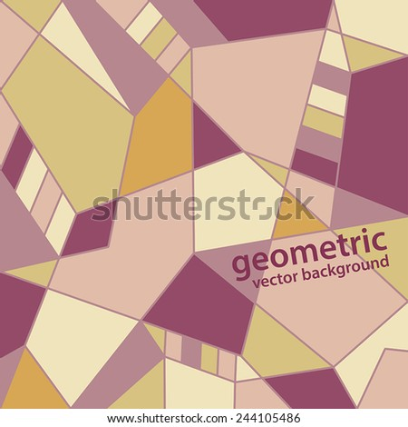 vector abstract geometric background in pastel colors