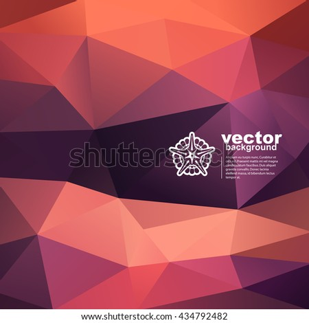 Vector abstract geometric background with starfish