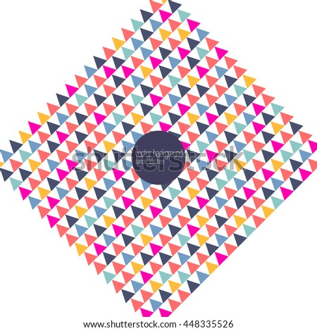 Vector abstract geometric frame background template