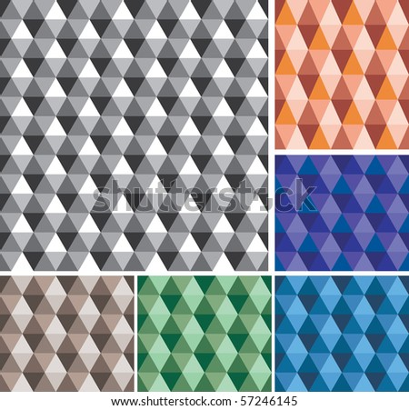 vector abstract geometric seamless repeating wallpaper - stock vector