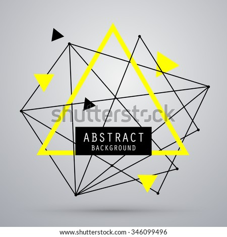 Vector abstract geometry background with triangle. EPS10 - stock vector