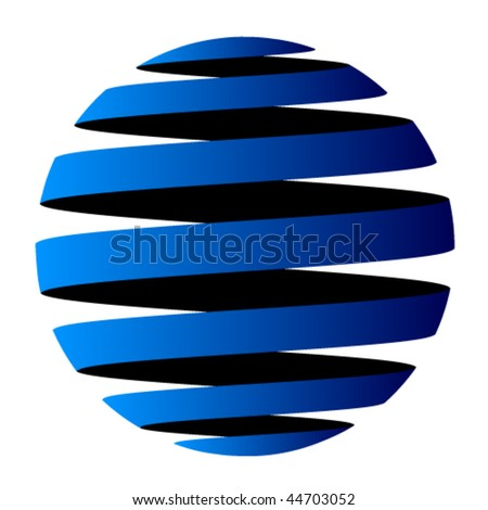 vector abstract globe