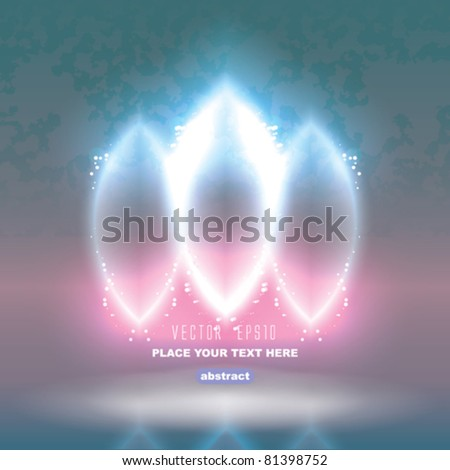 Vector Abstract Glossy Background - stock vector