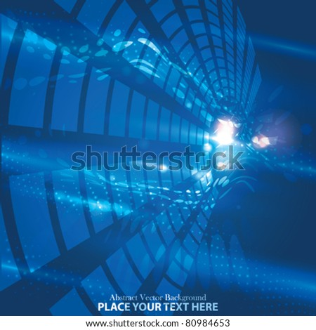 Vector Abstract Glow Background