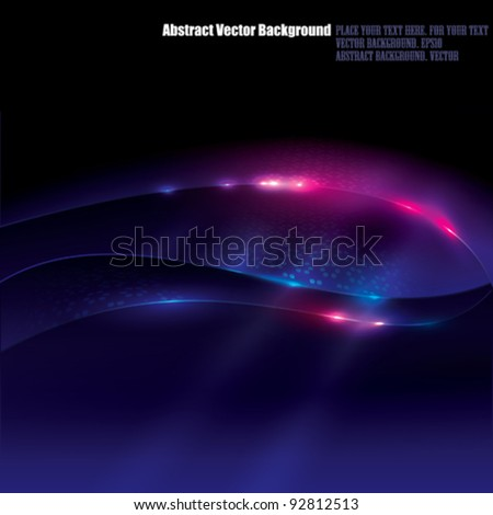 Vector Abstract Glow Background - stock vector