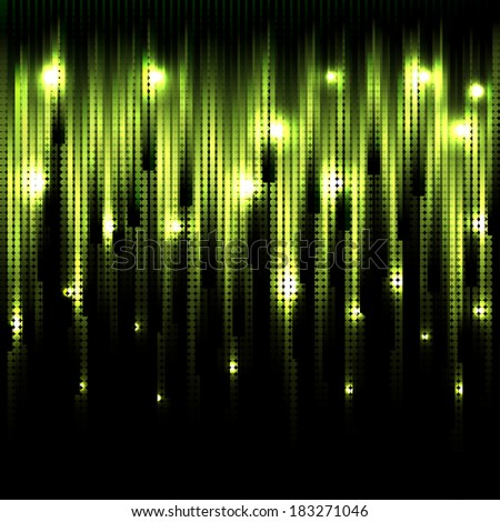 Vector abstract glowing green background. Eps10 - stock vector