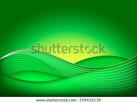 Vector Abstract Green Background - Eps10 - stock vector