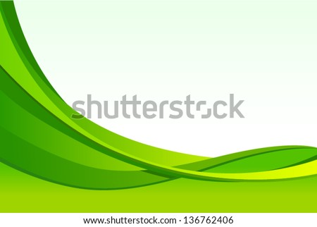 vector abstract green waves background - Separate layers for easy editing - stock vector