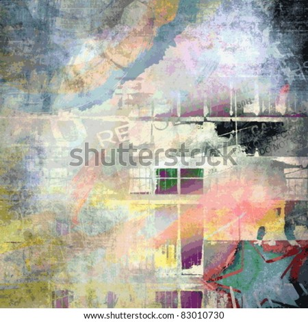 Vector abstract grunge background, art illustration - stock vector