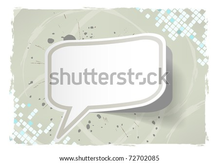 Vector abstract grunge frame with sticker - stock vector
