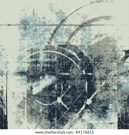 Vector abstract grunge music background - stock vector