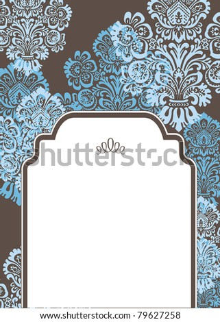 Vector Abstract Half Frame and Background. Easy to edit. Perfect for invitations or announcements. - stock vector