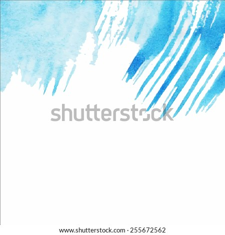 Vector abstract hand drawn watercolor background. Hand painting backdrop.  - stock vector