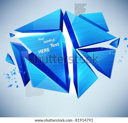 vector abstract high-tech background - stock vector