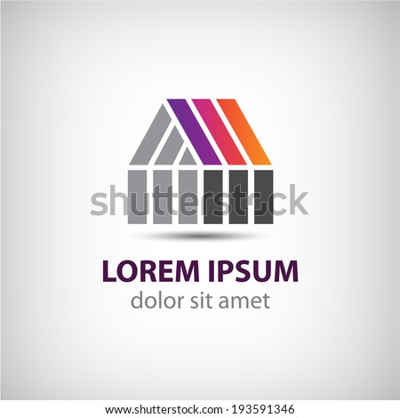 vector abstract house icon, logo for your company  - stock vector