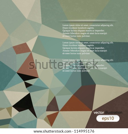 vector abstract illustration retro geometrical background - stock vector