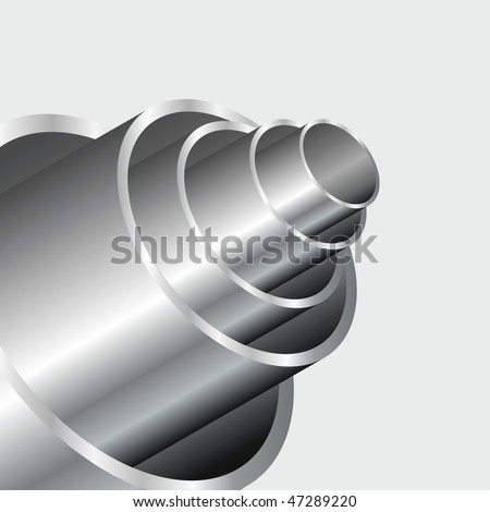 vector abstract industrial background with shiny tubes - stock vector