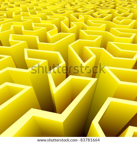 vector abstract labyrinth background - stock vector