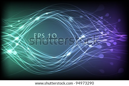 Vector abstract lines design - stock vector