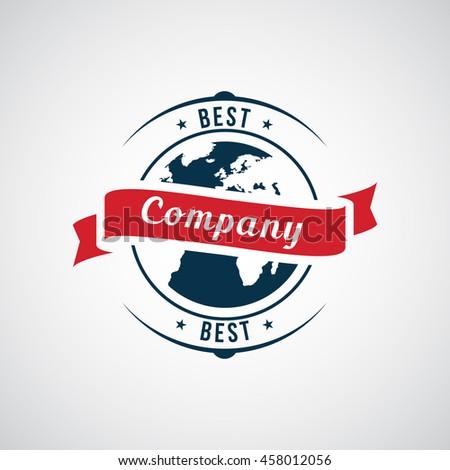 Vector abstract logo. Company identity - stock vector