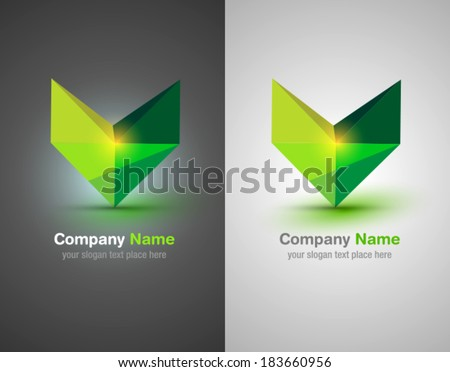 Vector abstract logo elements. Set of design shapes. Color icons.   - stock vector