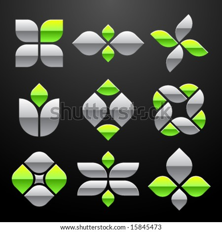 Vector Abstract Logo Set - stock vector