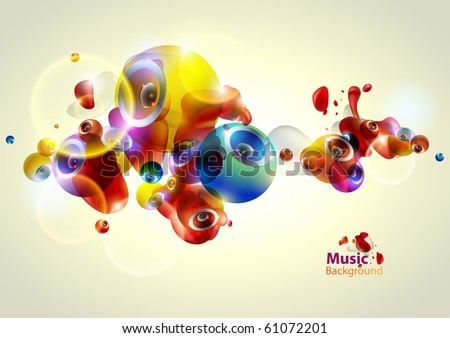 Vector abstract Loudspeakers - stock vector