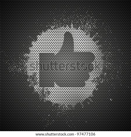 Vector abstract metal like background - stock vector