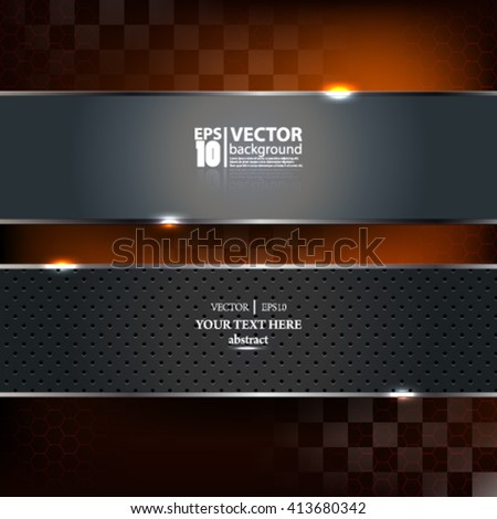 Vector abstract modern carbon metallic geometric and racing background - Eps10