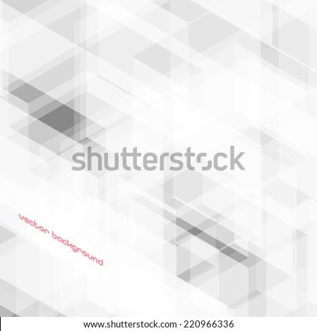 Vector abstract modern light gray hi-tech background - stock vector