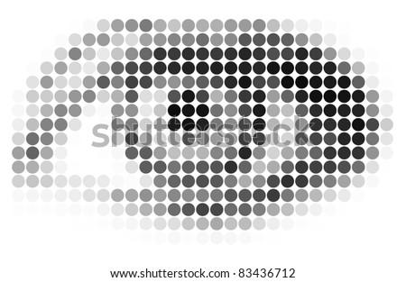 Vector abstract mosaic eye - stock vector