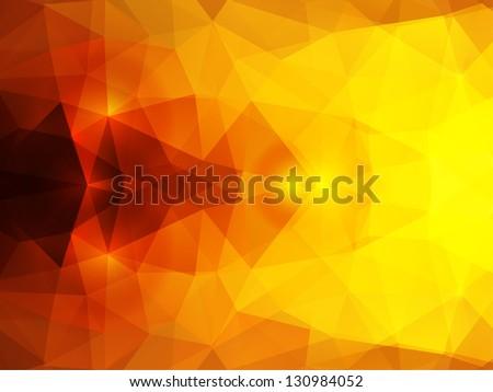 vector abstract mystical polygonal background - stock vector