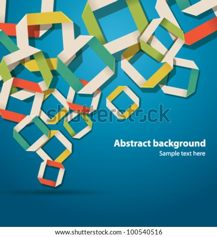 vector  abstract origami background - stock vector