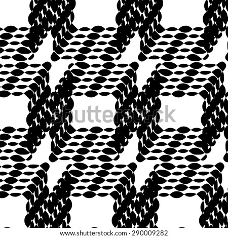 Vector Abstract Ornament on White Background. Abstract Ornamental Pattern