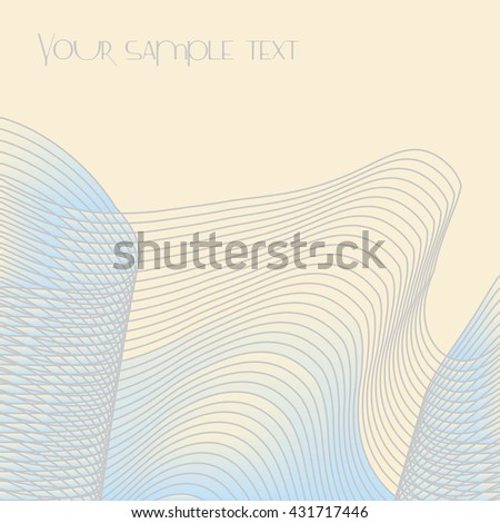 Vector abstract pattern consisting of parallel lines in three dimensions on a light background. Suitable for corporate identity, covers, printing products.
